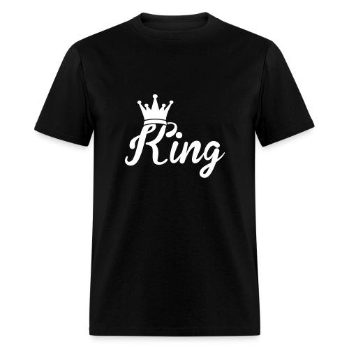 Men's White KING Shirt - Men's T-Shirt