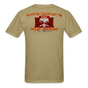 130th En Batt - RC Sapper Back Only - Men's T-Shirt