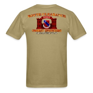 122nd En Batt - RC Sapper Back Only - Men's T-Shirt