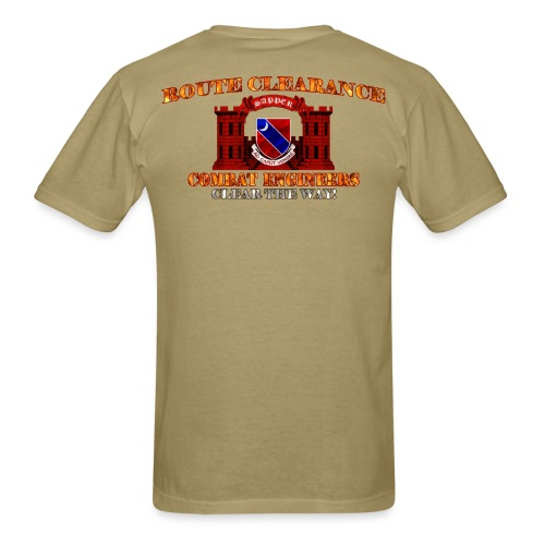 122nd En Batt - RC Sapper Back Only - Men's T-Shirt
