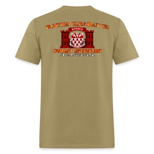 307th En Batt - RC Sapper Back Only - Men's T-Shirt