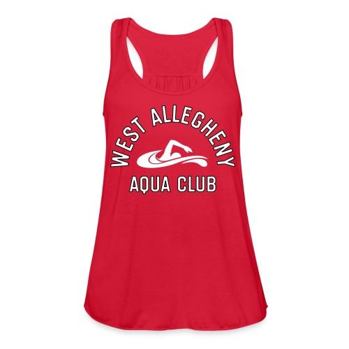 West Allegheny Aqua Club - Red - Women's Flowy Tank Top by Bella
