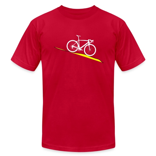 Road Bike slant - Men's  Jersey T-Shirt