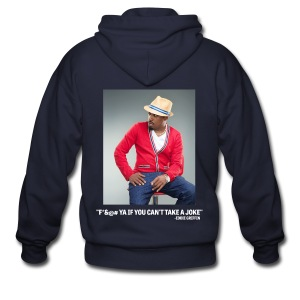 Eddie Griffin F*&@#  YA IF YOU CAN'T TAKE A JOKE Mens Zipper Hoodie - Men's Zip Hoodie