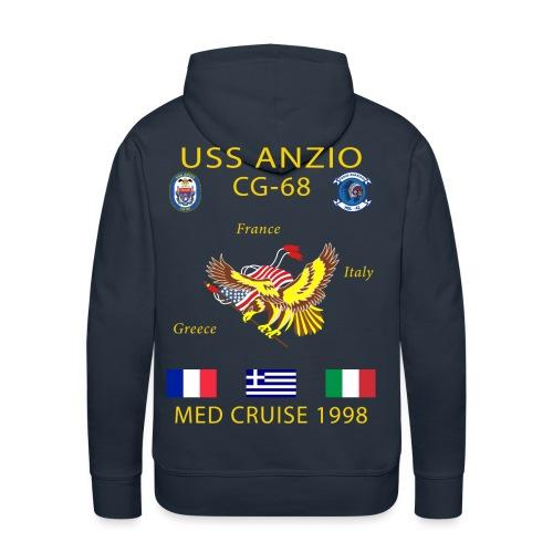 USS ANZIO CG-68 1998 CRUISE HOODIE - Men's Premium Hoodie