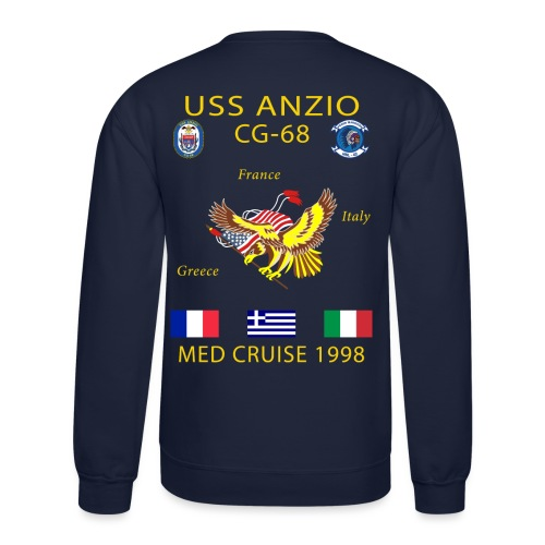 USS ANZIO CG-68 1998 CRUISE SHIRT - Crewneck Sweatshirt