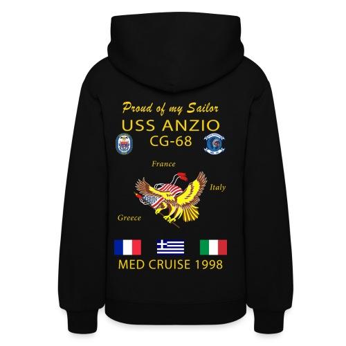 USS ANZIO CG-68 1998 WOMENS CRUISE HOODIE - FAMILY - Women's Hoodie