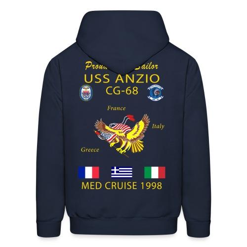 USS ANZIO CG-68 1998 CRUISE HOODIE - FAMILY - Men's Hoodie