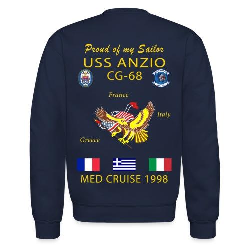 USS ANZIO CG-68 1998 CRUISE SWEATSHIRT - FAMILY - Crewneck Sweatshirt