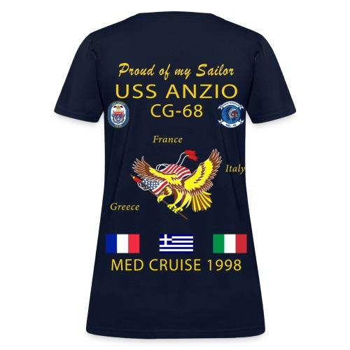 USS ANZIO CG-68 1998 WOMENS CRUISE SHIRT - FAMILY - Women's T-Shirt