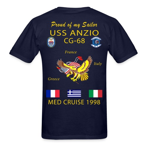 USS ANZIO CG-68 1998 CRUISE SHIRT - FAMILY - Men's T-Shirt