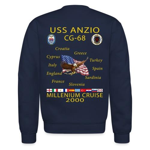 USS ANZIO CG-68 2000 CRUISE SWEATSHIRT - Crewneck Sweatshirt