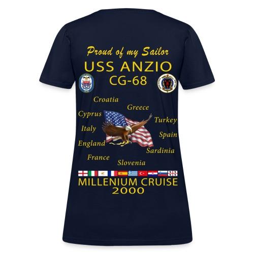 USS ANZIO CG-68 2000 WOMENS CRUISE SHIRT - FAMILY - Women's T-Shirt