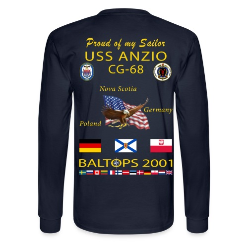 USS ANZIO CG-68 2001 LONG SLEEVE CRUISE SHIRT - FAMILY - Men's Long Sleeve T-Shirt