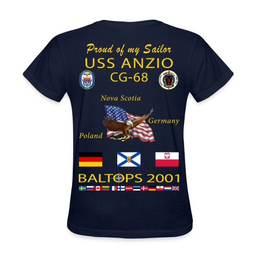 USS ANZIO CG-68 2001 WOMENS CRUISE SHIRT - FAMILY - Women's T-Shirt