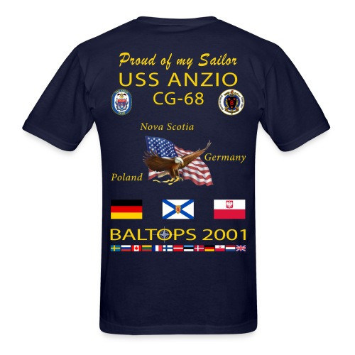 USS ANZIO CG-68 2001 CRUISE SHIRT - FAMILY - Men's T-Shirt