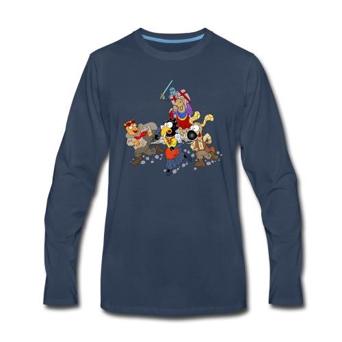 Medieval Trio Escape - Men's Premium Long Sleeve T-Shirt