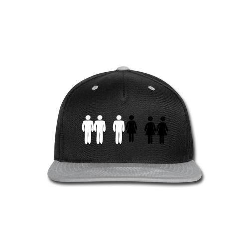 Gay, Straight, Bi - Snap-back Baseball Cap
