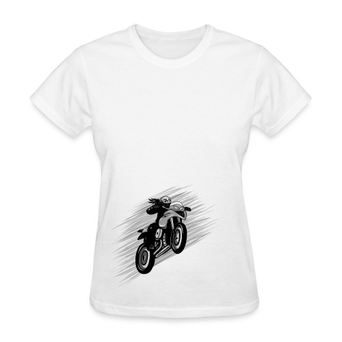Fast Motorcycle on White - Women's T-Shirt