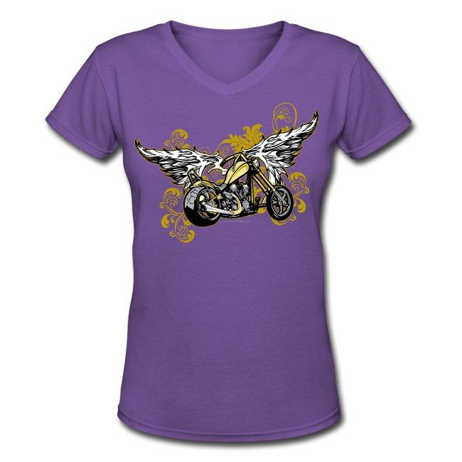 Winged Motorcycle on black