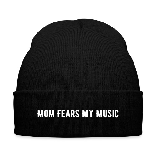 Mom Fears My Beanie - Knit Cap with Cuff Print