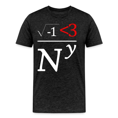 Math Nerds Heart NY - Men's Premium T-Shirt
