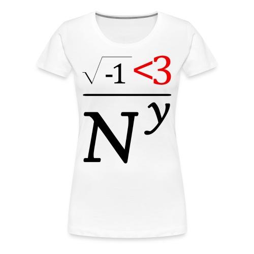 Math Nerds Heart NY - Women's Premium T-Shirt