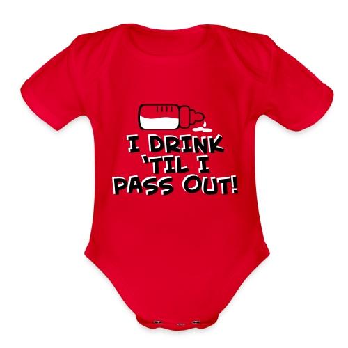 Funny Infant Short Sleeve   - Organic Short Sleeve Baby Bodysuit