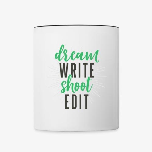 Dream. Write. Shoot. Edit. Coffee Mug - Contrast Coffee Mug