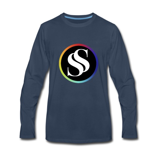 SF Long Sleeve Navy - Men's Premium Long Sleeve T-Shirt
