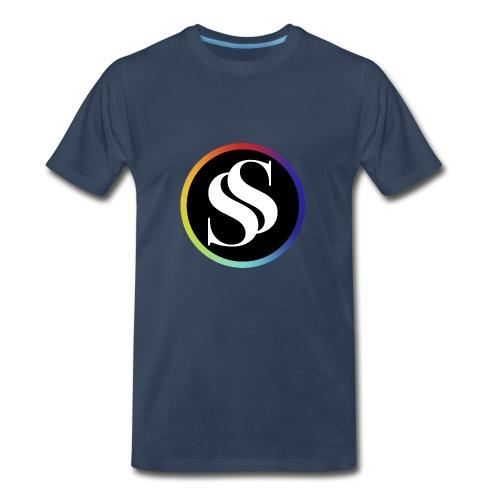 SF Short Sleve Navy - Men's Premium T-Shirt
