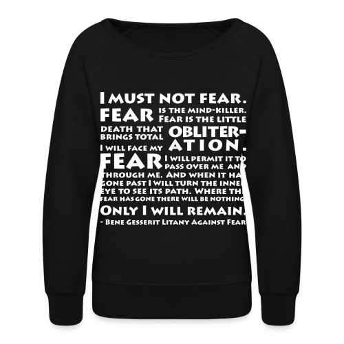 Litany Against Fear (Women) - Women's Crewneck Sweatshirt