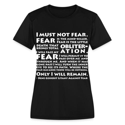 Litany Against Fear (Women) - Women's Moisture Wicking Performance T-Shirt