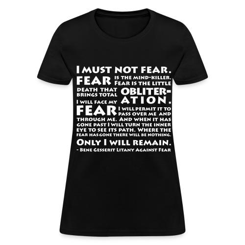 Litany Against Fear (Women) - Women's T-Shirt