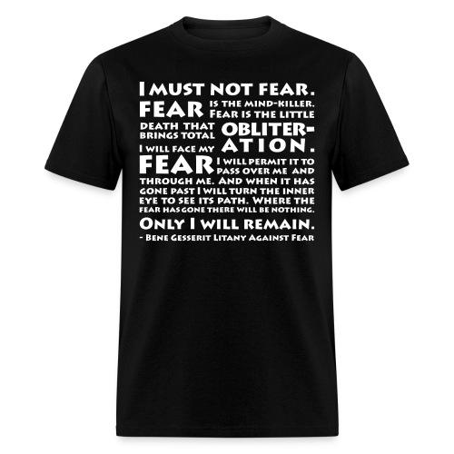 Litany Against Fear - Men's T-Shirt