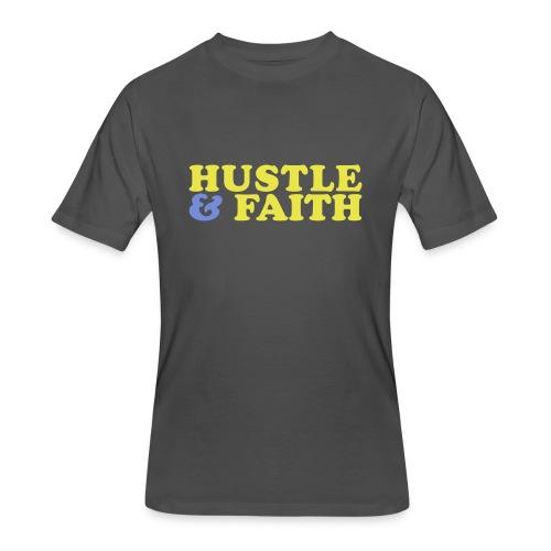 Hustle & Faith (Men) - Men's 50/50 T-Shirt