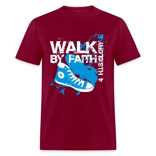 Walk by Faith (Men) - Men's T-Shirt