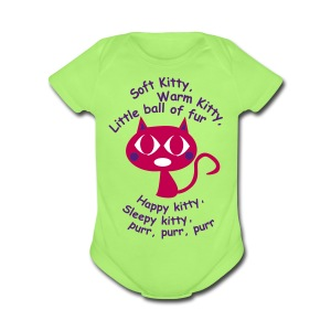 soft_kitty - Short Sleeve Baby Bodysuit