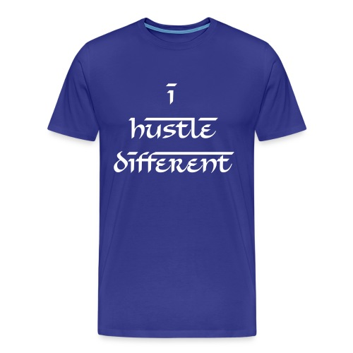 Classic I Hustle Different Men's T-Shirt - Men's Premium T-Shirt