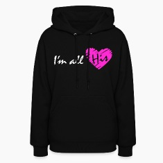 I'm all his (couple - girl) Hoodies