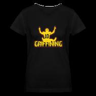 Women's T-Shirts ~ Women's V-Neck T-Shirt ~ Women's Griffining Shirt on Black V-Neck