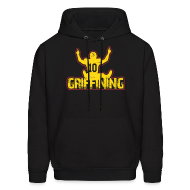 Hoodies ~ Men's Hoodie ~ Women's Griffining Shirt on Black V-Neck