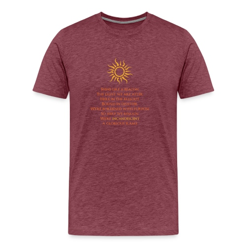 Incandescent Lyrics T-Shirt - Men's Premium T-Shirt
