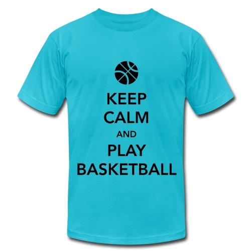 Men who play basket ball - Men's Fine Jersey T-Shirt