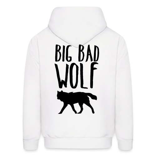 Big Bad Wolf (BACK) White - Men's Hoodie