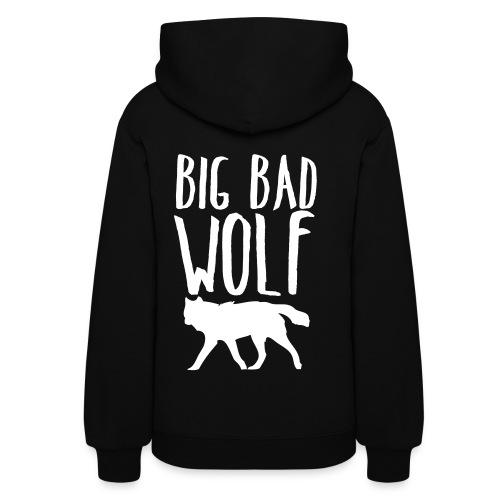 Big Bad Wolf (BACK)  - Women's Hoodie