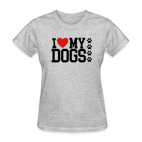I Love my Dog shirt - Women's T-Shirt