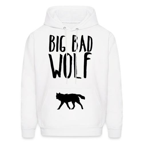 Big Bad Wolf (FRONT) White - Men's Hoodie