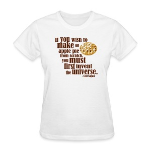 Carl Sagan - Apple Pie - Women's T-Shirt