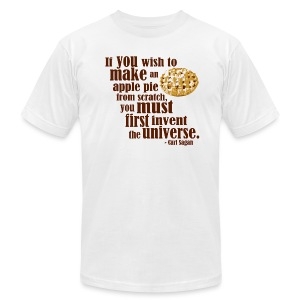 Carl Sagan - Apple Pie - Men's T-Shirt by American Apparel